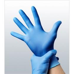 Luvas Nitrilo Azul Tam M