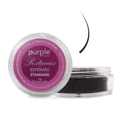 Pestanas Standard Curvatura - C Espessura 0.20mm/9mm Comprimento - Purple